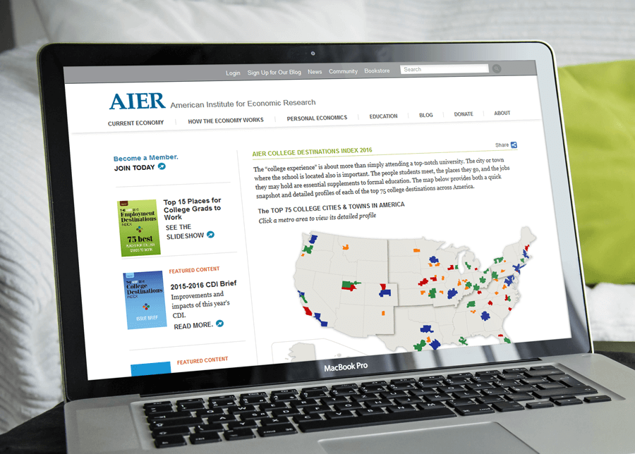 American Institute for Economic Research (AIER), MA Drupal Website Services