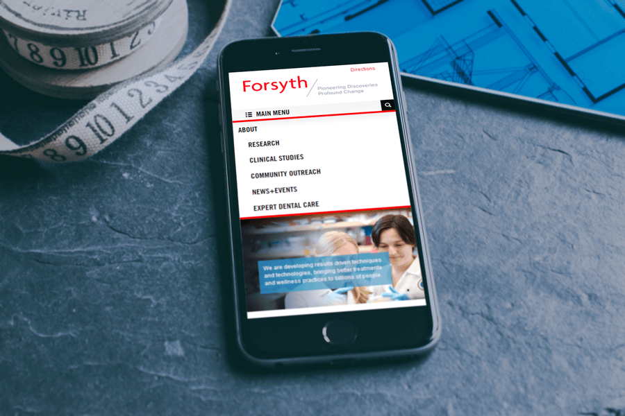 The Forsyth Institute, University Website Redesign