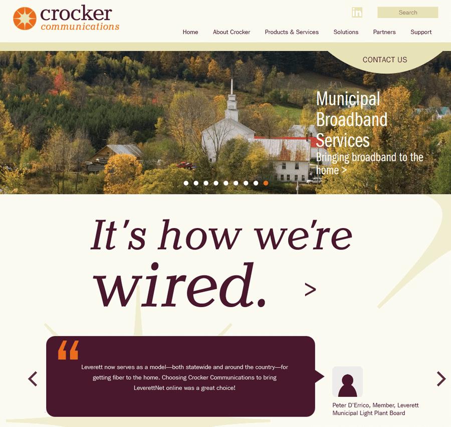 Crocker Communications, Corporate Web Services MA