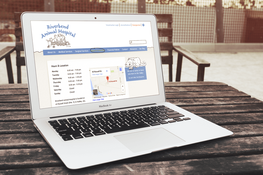 Riverbend Animal Hospital, Corporate Drupal Web Services MA