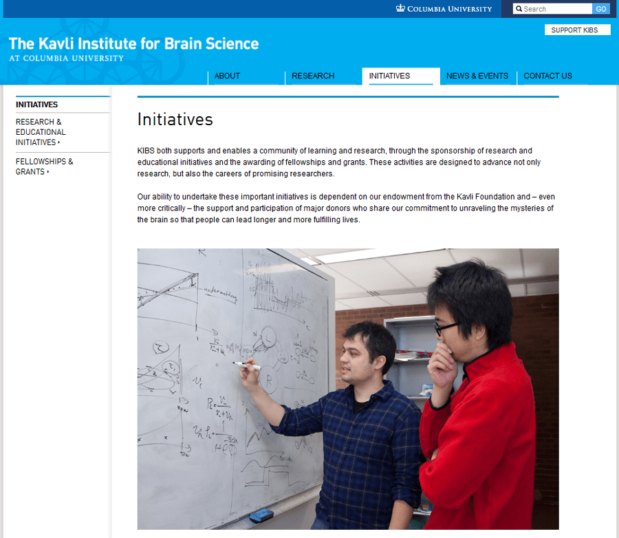 The Kavli Institute for Brain Science , Education Drupal