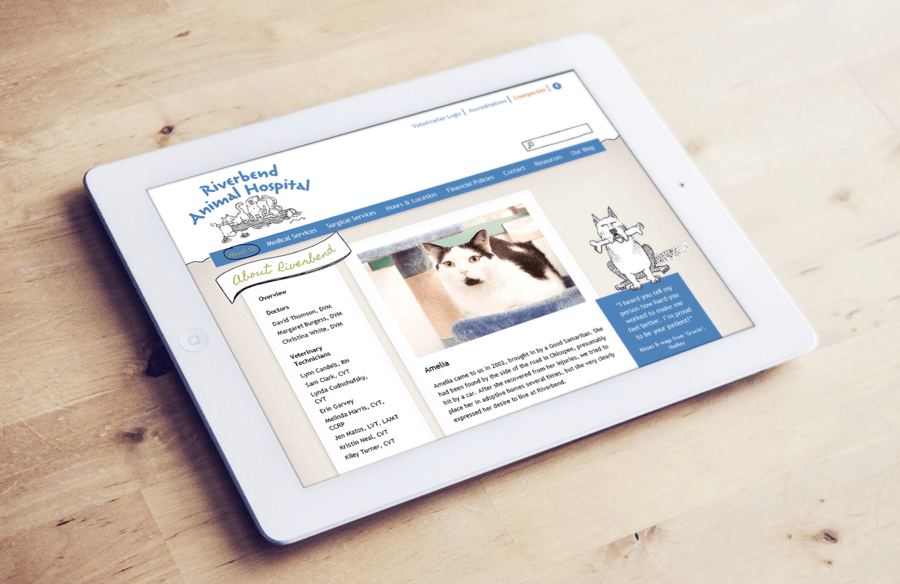 Riverbend Animal Hospital, Enterprise Drupal Site MA