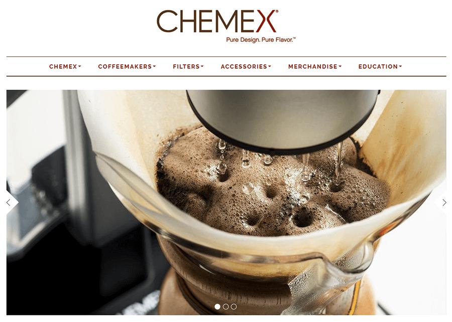Chemex Coffeemaker, MA Magento Web Development