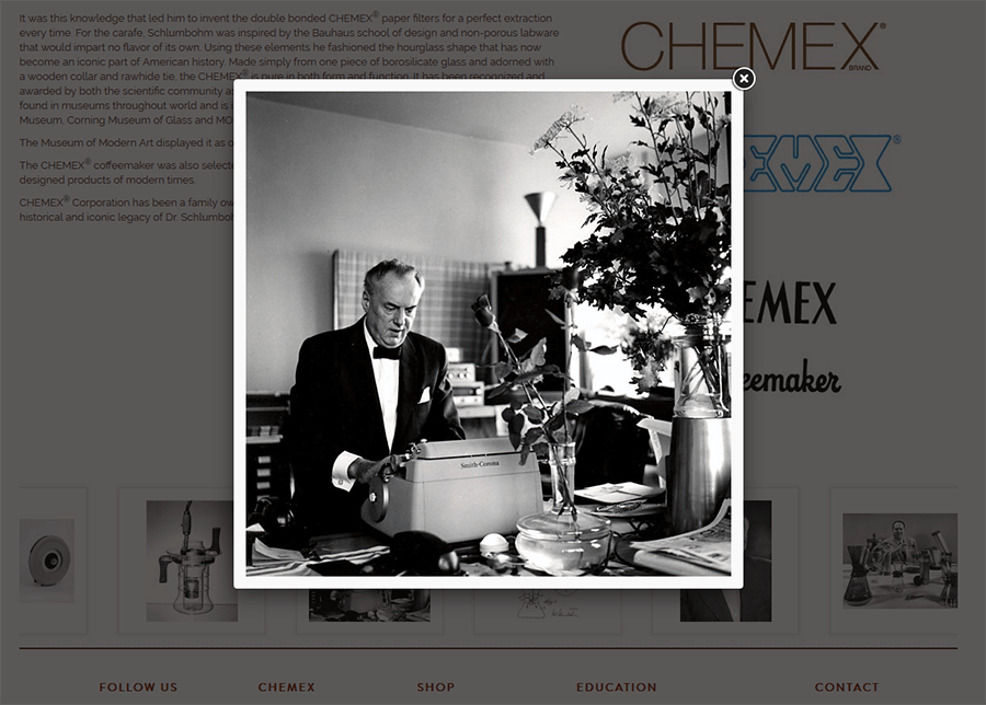 Chemex Coffeemaker, Magento Web Development Services