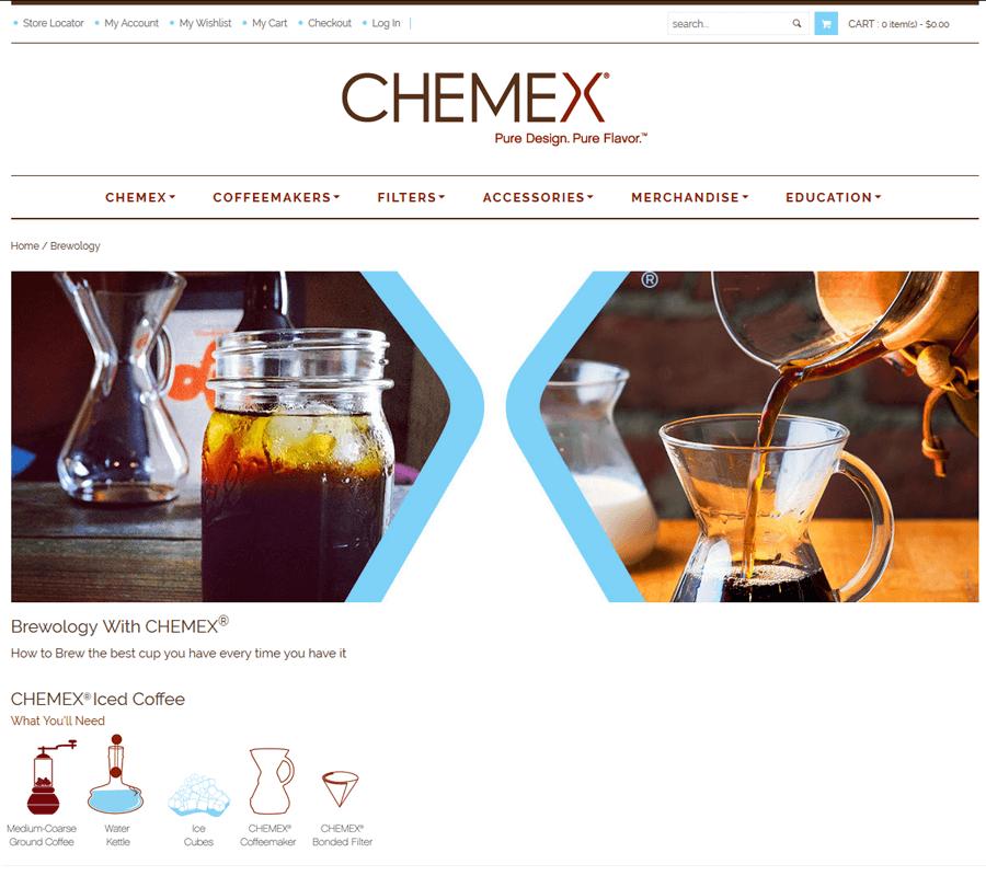 Chemex Coffeemaker, Magento Web Services MA