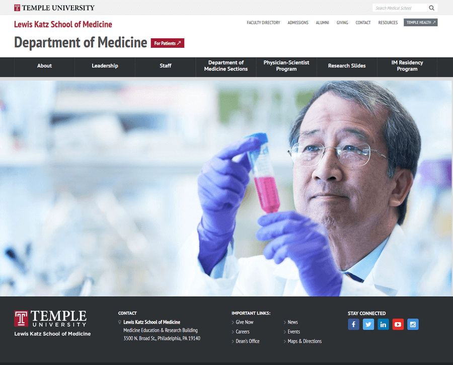 Temple University Lewis Katz School of Medicine, Education Website Production MA