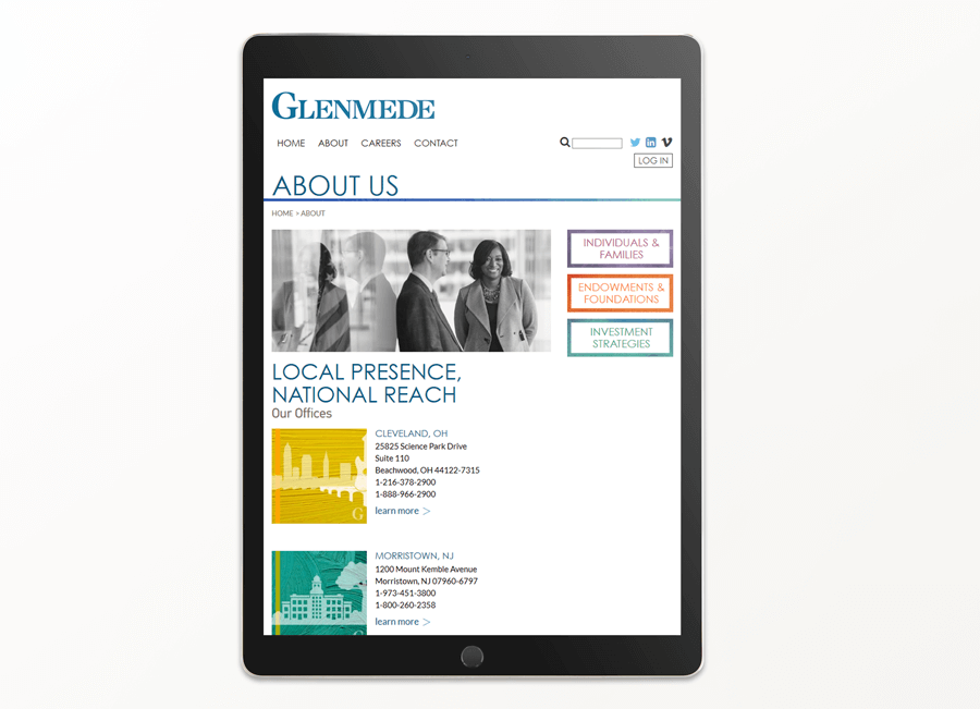 Glendmede Trust Company, Enterprise Web Production